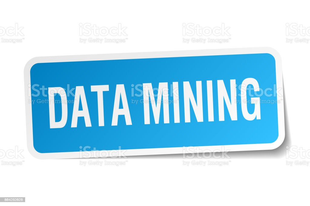 data mining square sticker on white royalty-free data mining square sticker on white stock vector art & more images of badge