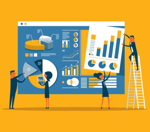 資料頁構造 - 商業策略 幅插畫檔、美工圖案、卡通及圖標