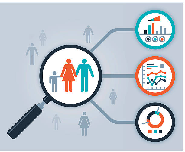 data people analytics and statistics - demographics infographics stock illustrations, clip art, cartoons, & icons