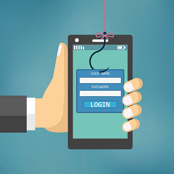 Data Phishing with fishing hook. - Illustration vectorielle