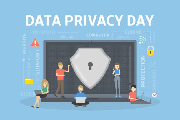 資料隱私日。 - 國際比賽 幅插畫檔、美工圖案、卡通及圖標