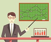 Data Processing, Business Planning and Business Optimization - vector illustration