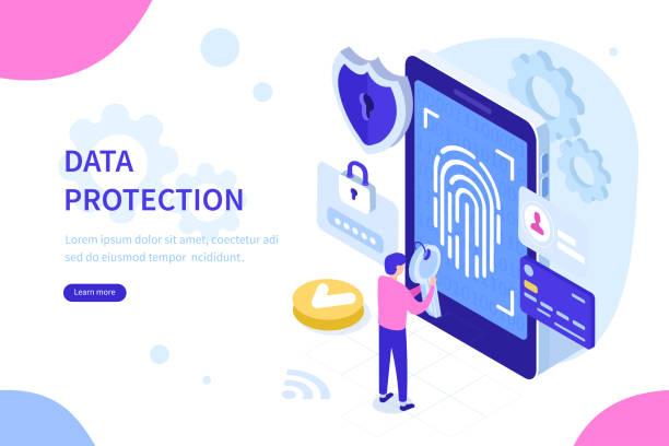 데이터 보호 - 신분 stock illustrations