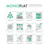 Data Science Monoflat Icons