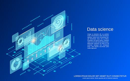 Data science vector concept