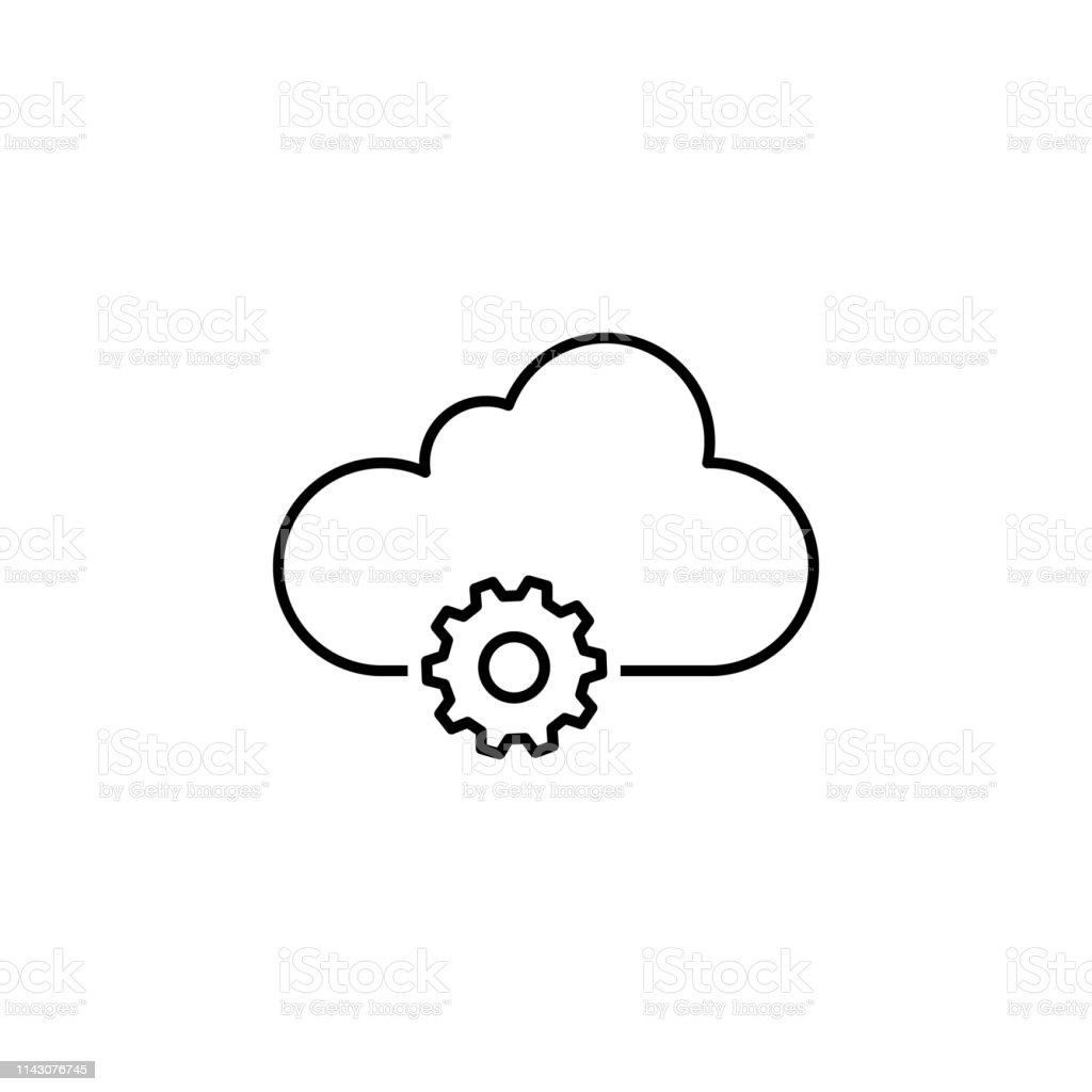 Data Settings Cloud Outline Icon Signs And Symbols Can Be