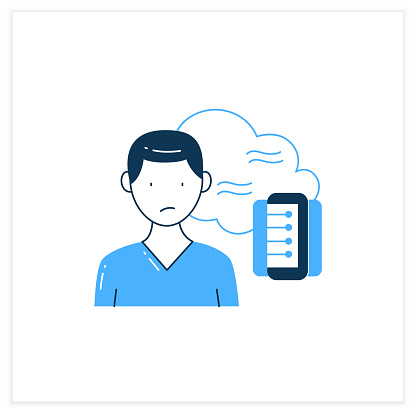 Data smog flat icon