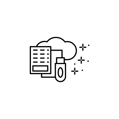 Data storage, cloud, flash card icon. Element of modern business icon