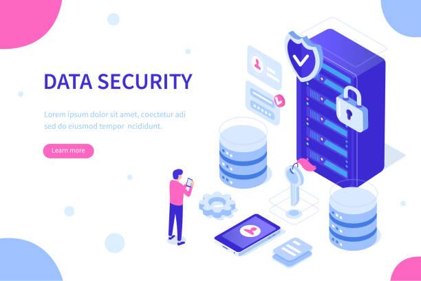 ilustraciones, imágenes clip art, dibujos animados e iconos de stock de almacenamiento de datos - robo de identidad
