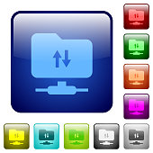 FTP data traffic color square buttons