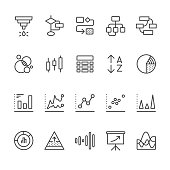 Chart Types & Data Visualization related vector icons.