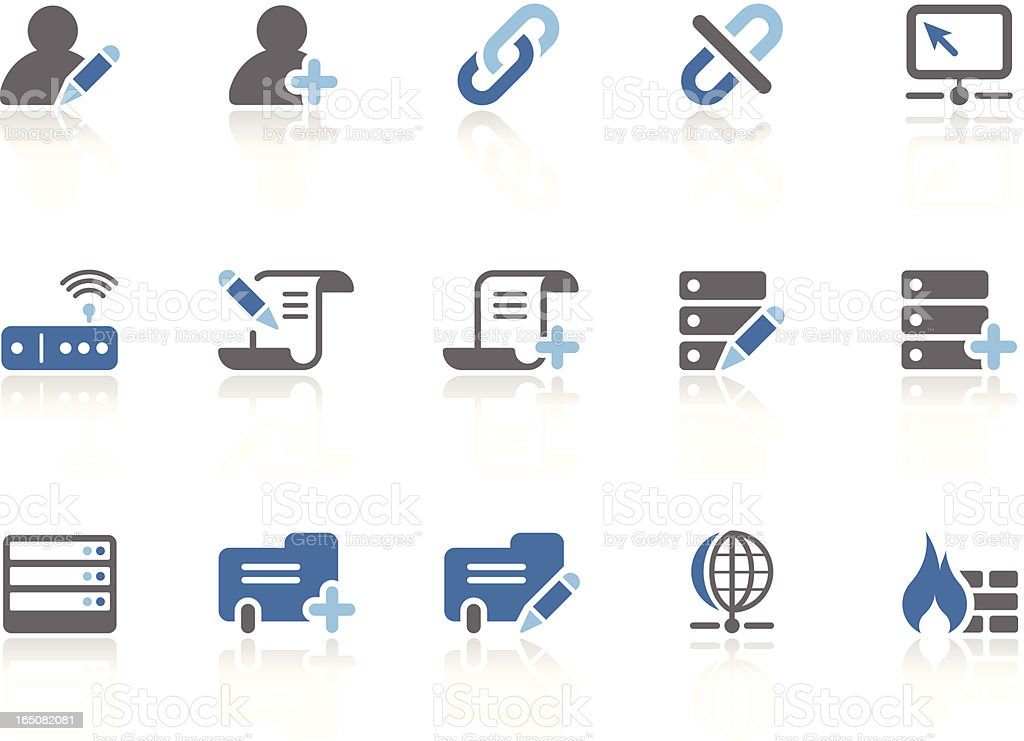 Database and Network | azur series royalty-free stock vector art