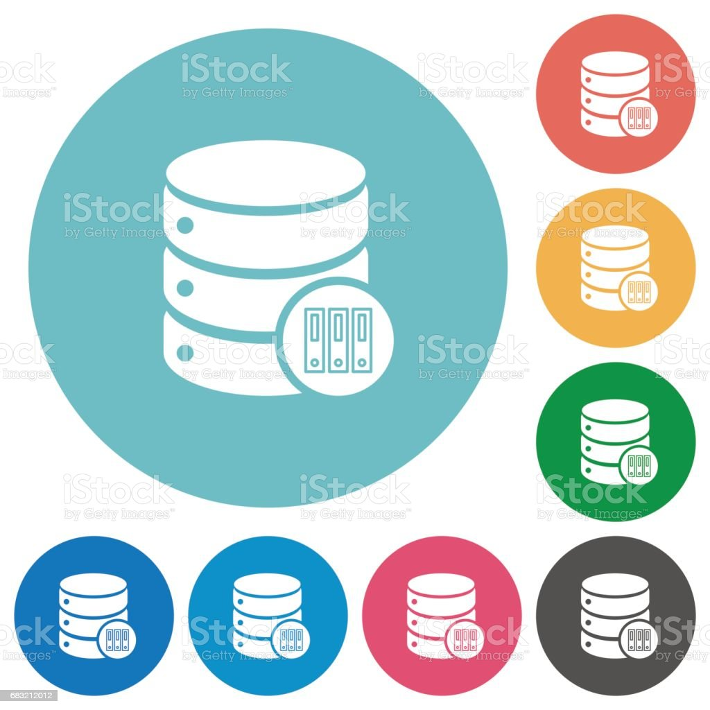 Database archive flat round icons ロイヤリティフリーdatabase archive flat round icons - guiのベクターアート素材や画像を多数ご用意