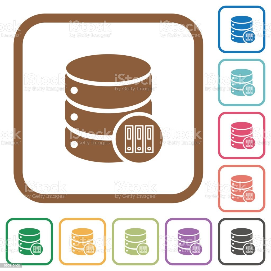 Database archive simple icons royalty-free database archive simple icons stock vector art & more images of backup
