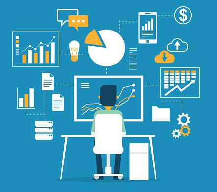Database - Businessman