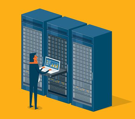 Database center - Businessman