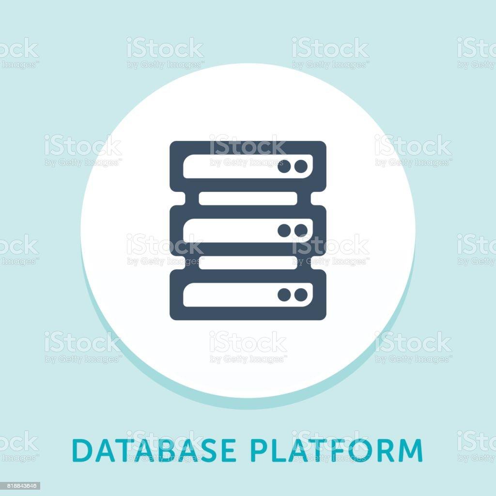 Database Curve Icon vector art illustration