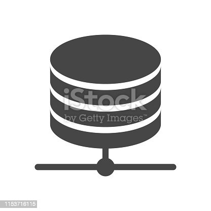 istock Database Icon isolated on white background. 1153716115