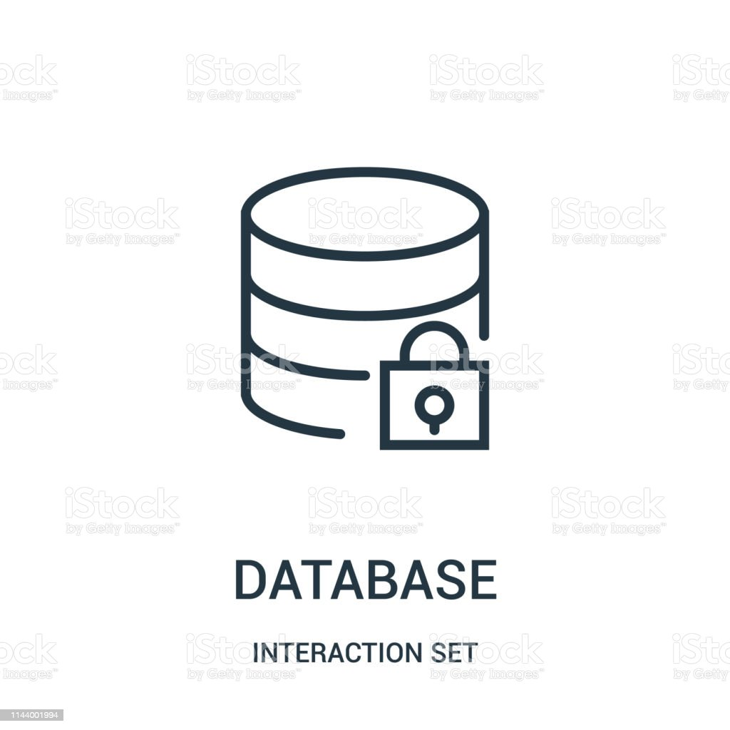 Database Icon Vector From Interaction Set Collection Thin