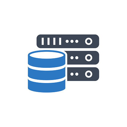 Database vector icon on white background
