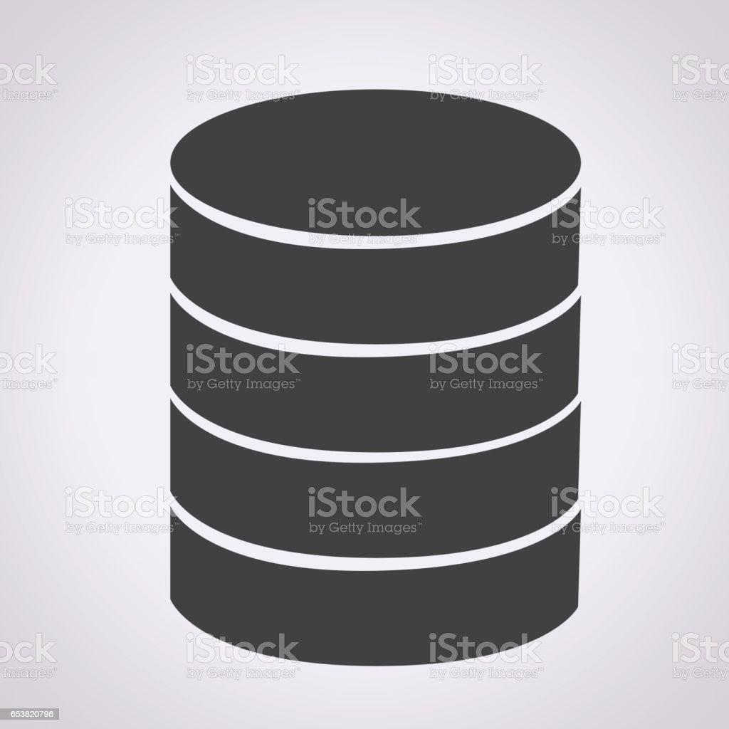 Database icon vector art illustration