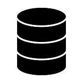 Database Icon. Vector Simple Minimal 96x96 Pictogram