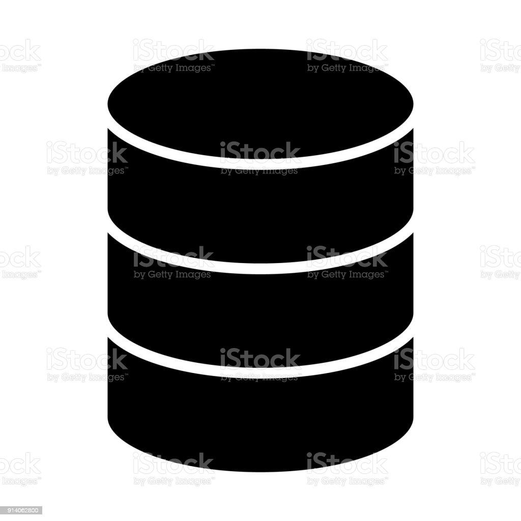 Database Icon. Vector Simple Minimal 96x96 Pictogram vector art illustration