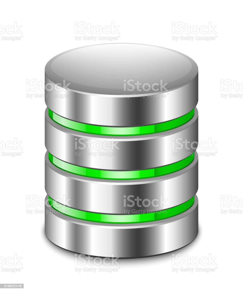 データベースのアイコンをクリックします。ベクトル画像 ベクターアートイラスト