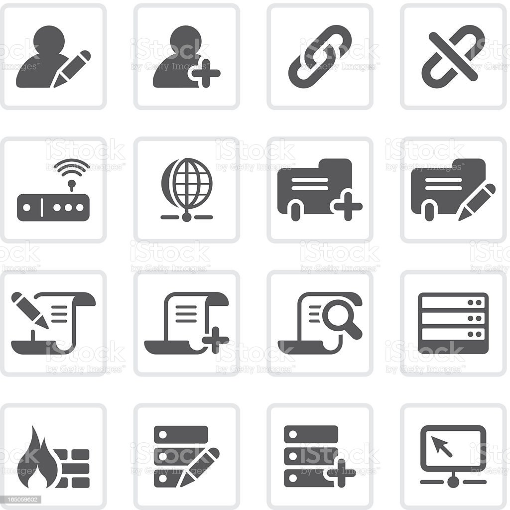 Database icons  | prime series vector art illustration