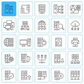 istock Database line icons. Editable stroke. 1250724833