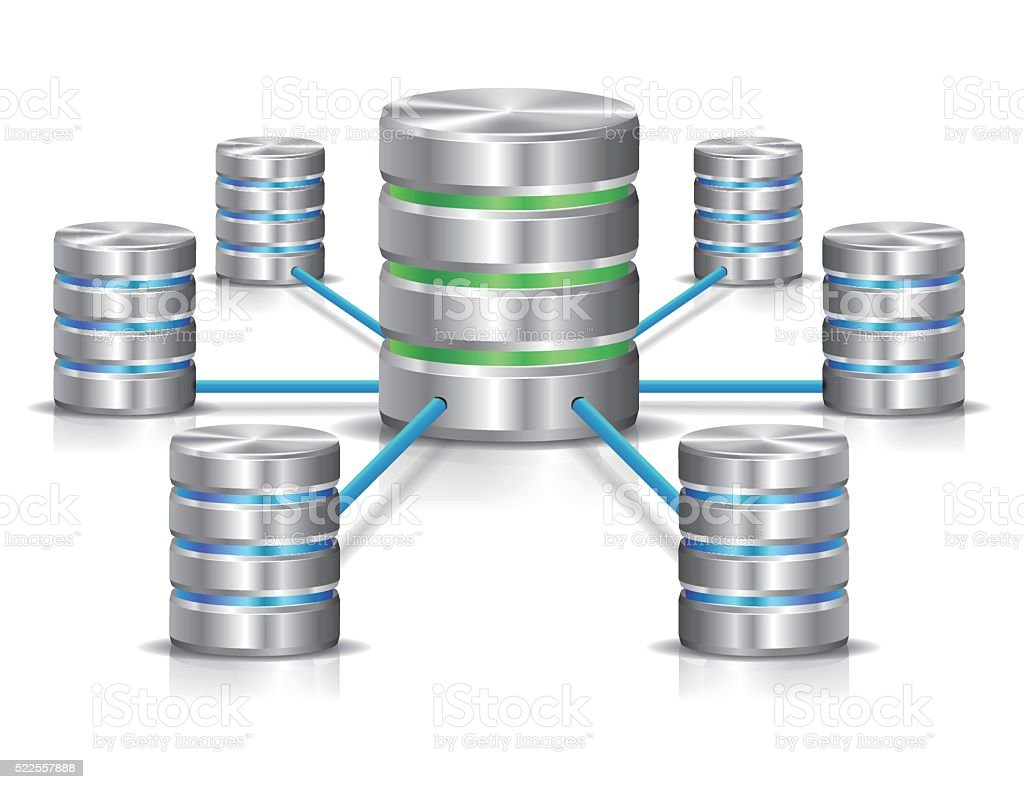 Database network vector art illustration