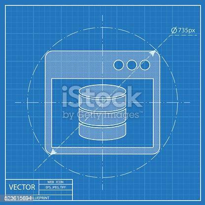 Database program window blueprint style stock vector art more database program window blueprint style stock vector art more images of backup 523615694 istock malvernweather Images