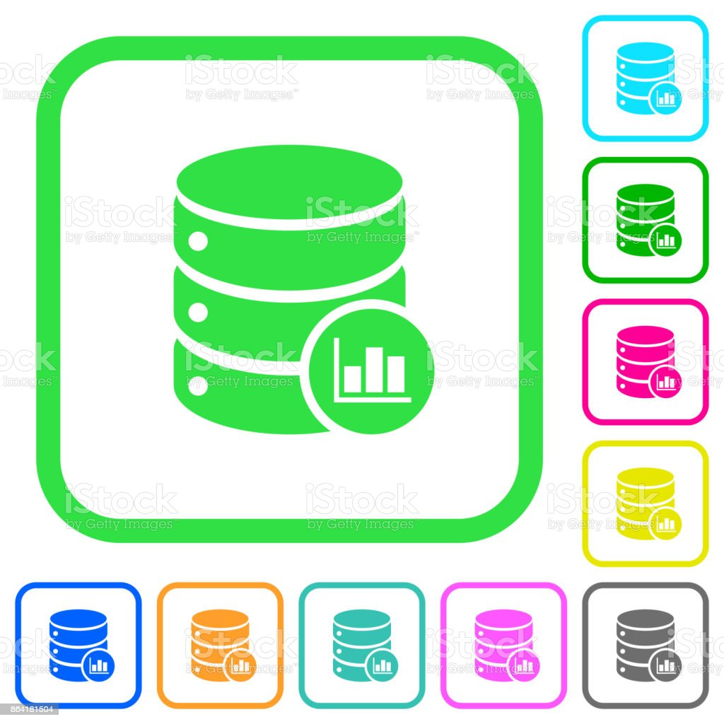 Database statistics vivid colored flat icons icons royalty-free database statistics vivid colored flat icons icons stock vector art & more images of analyzing