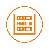 Pixel perfect Database, storage, server icon for commercial, print media, web or any type of design projects.