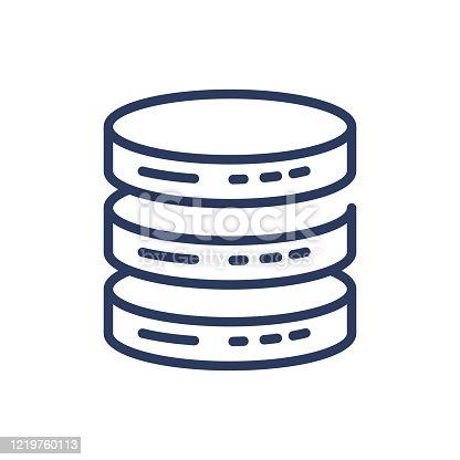 istock Database thin line icon 1219760113