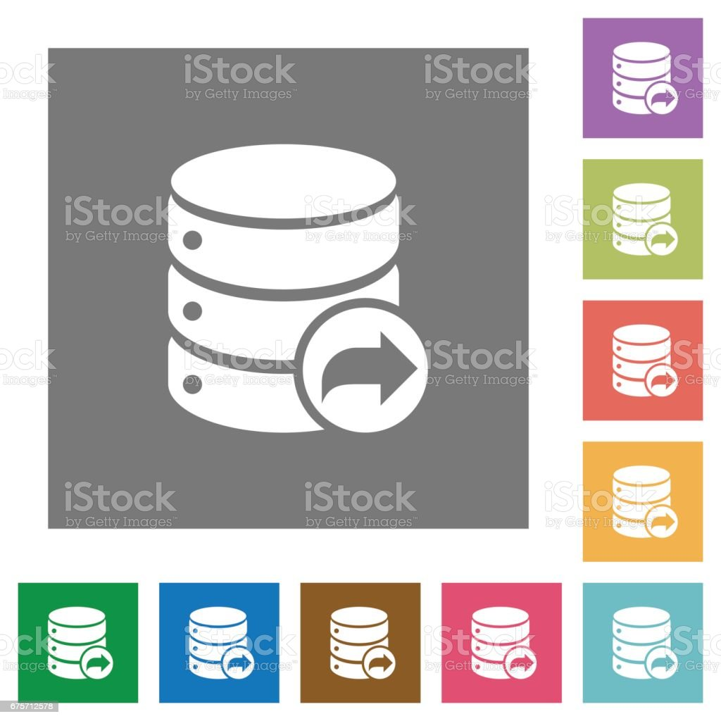 Database transaction commit square flat icons 免版稅 database transaction commit square flat icons 向量插圖及更多 互聯網 圖片