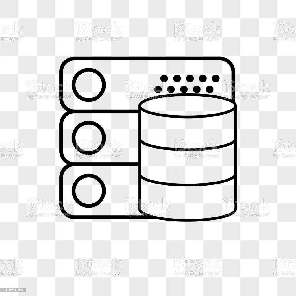 Database Vector Icon On Transparent Background Database Icon