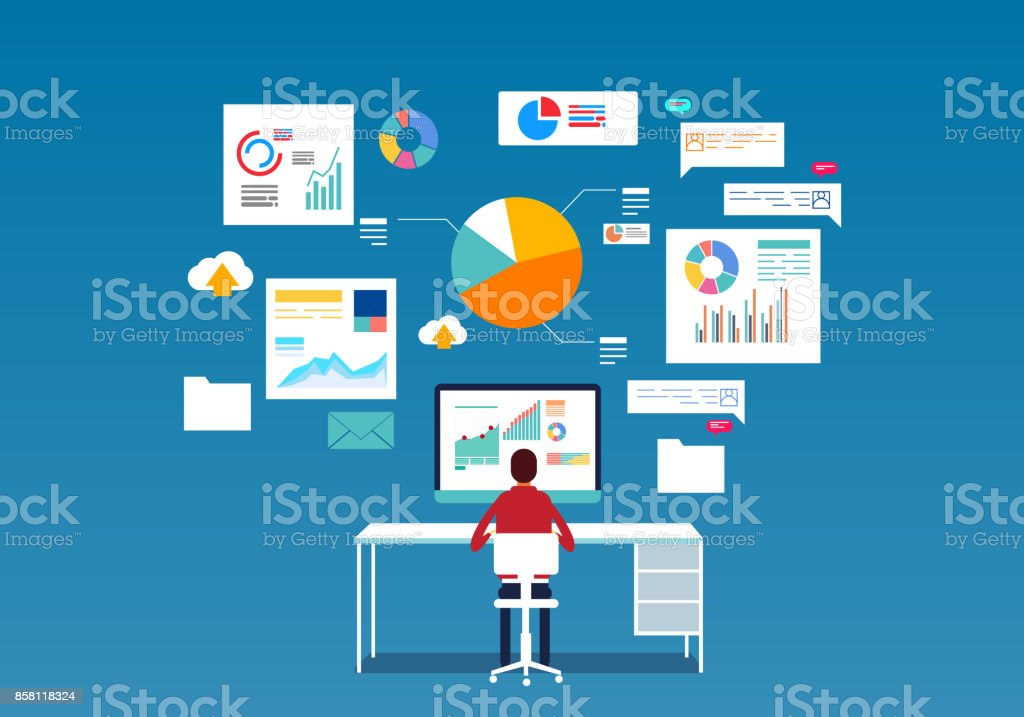database – artystyczna grafika wektorowa