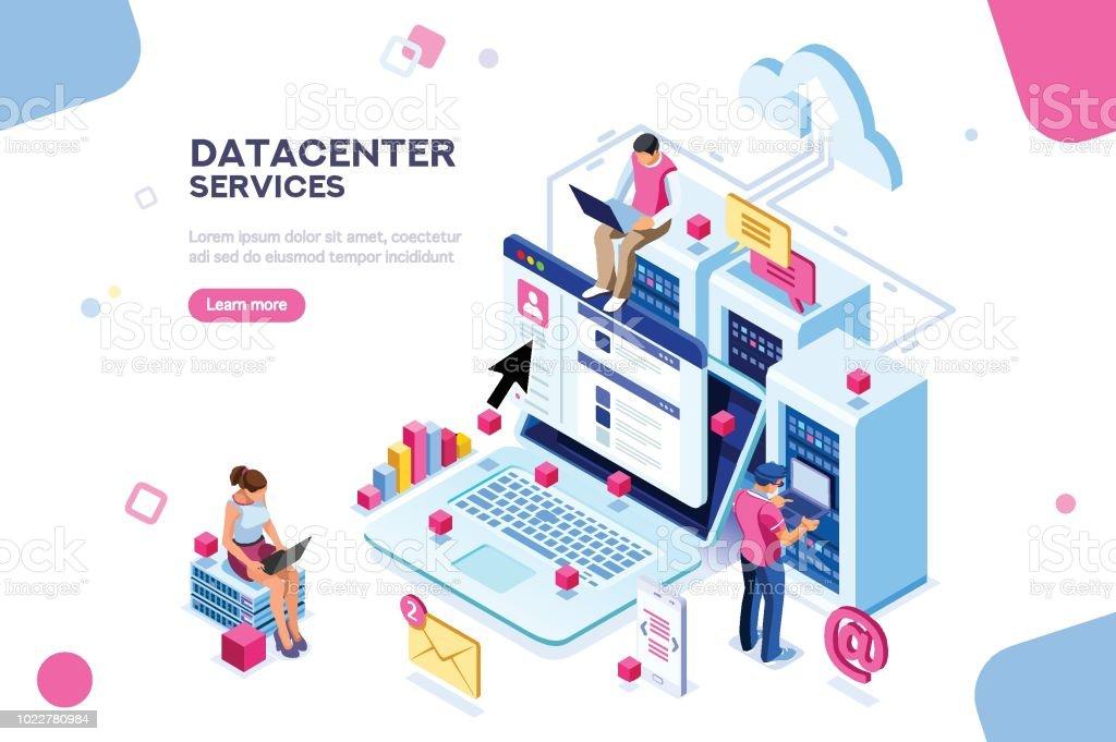 Datacenter Concept Vector Design Stock Illustration Download Image Now Istock