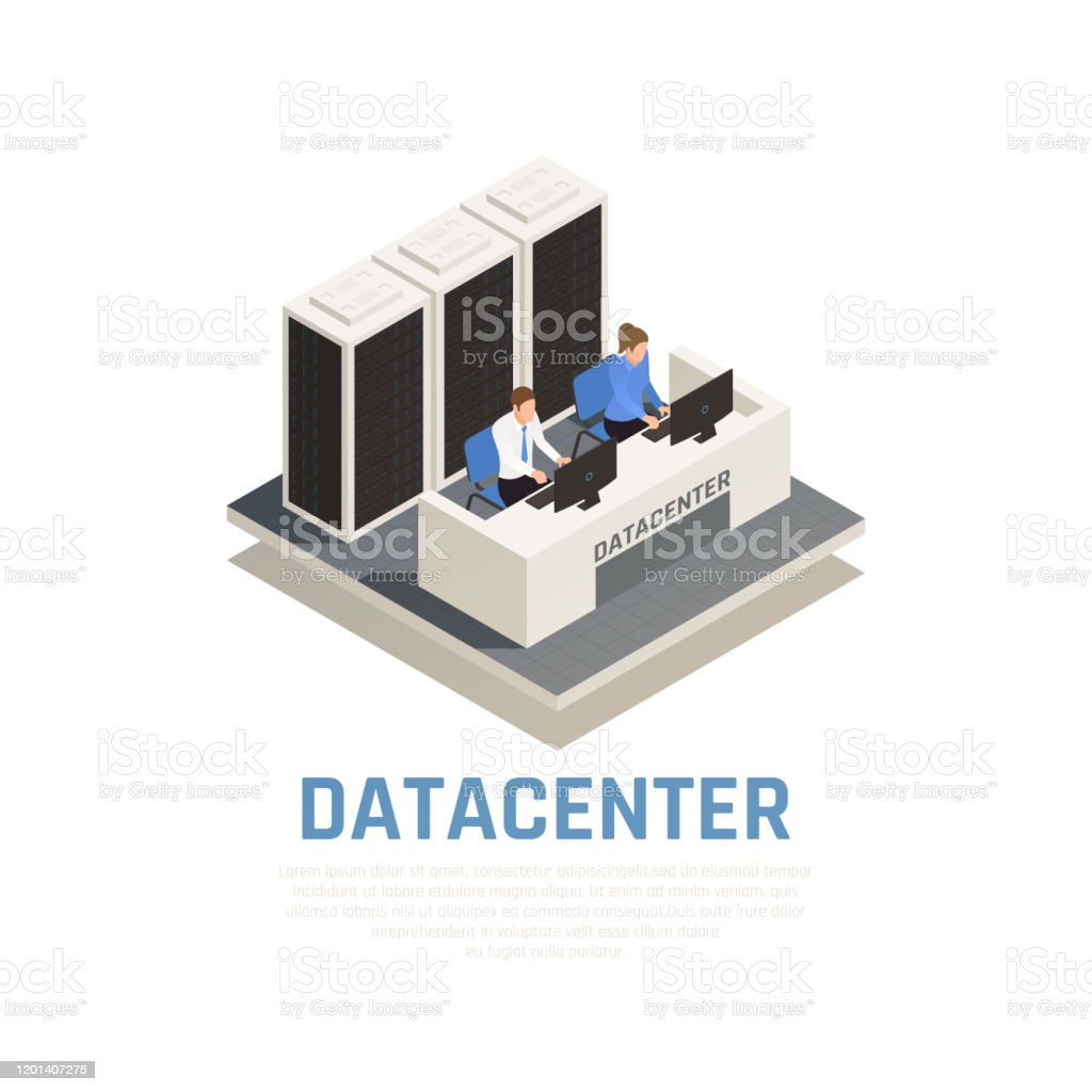 Datacenter Server Cloud Computing Isometric Composition Stock Illustration Download Image Now Istock