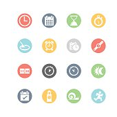 Date and Time Icons : Minimal Style