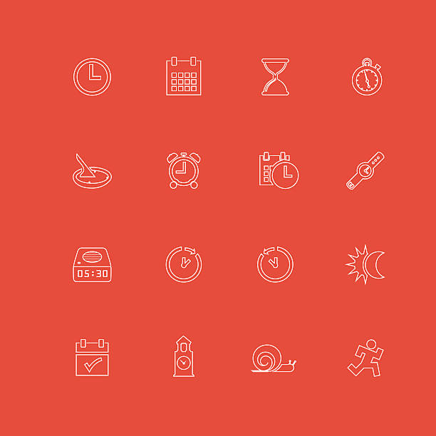 date and time icons - daylight savings time stock illustrations, clip art, cartoons, & icons