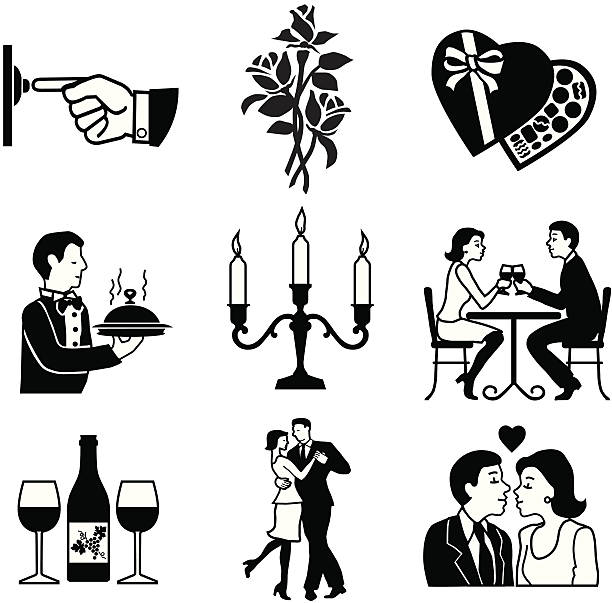date night - date night stock illustrations