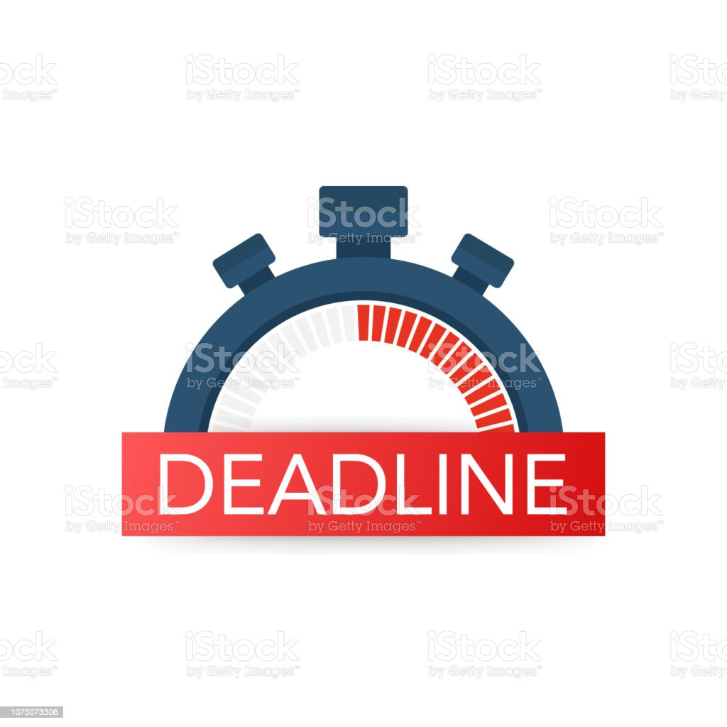 Dates and Deadlines icon. Time icon. Lack of time concept. Vector...
