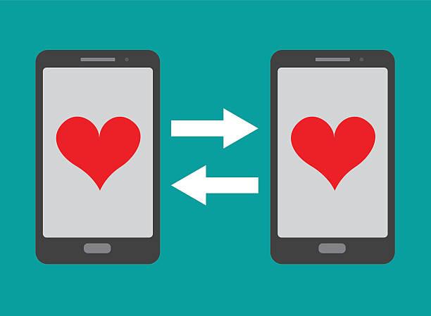 Dating app Dating app online dating stock illustrations