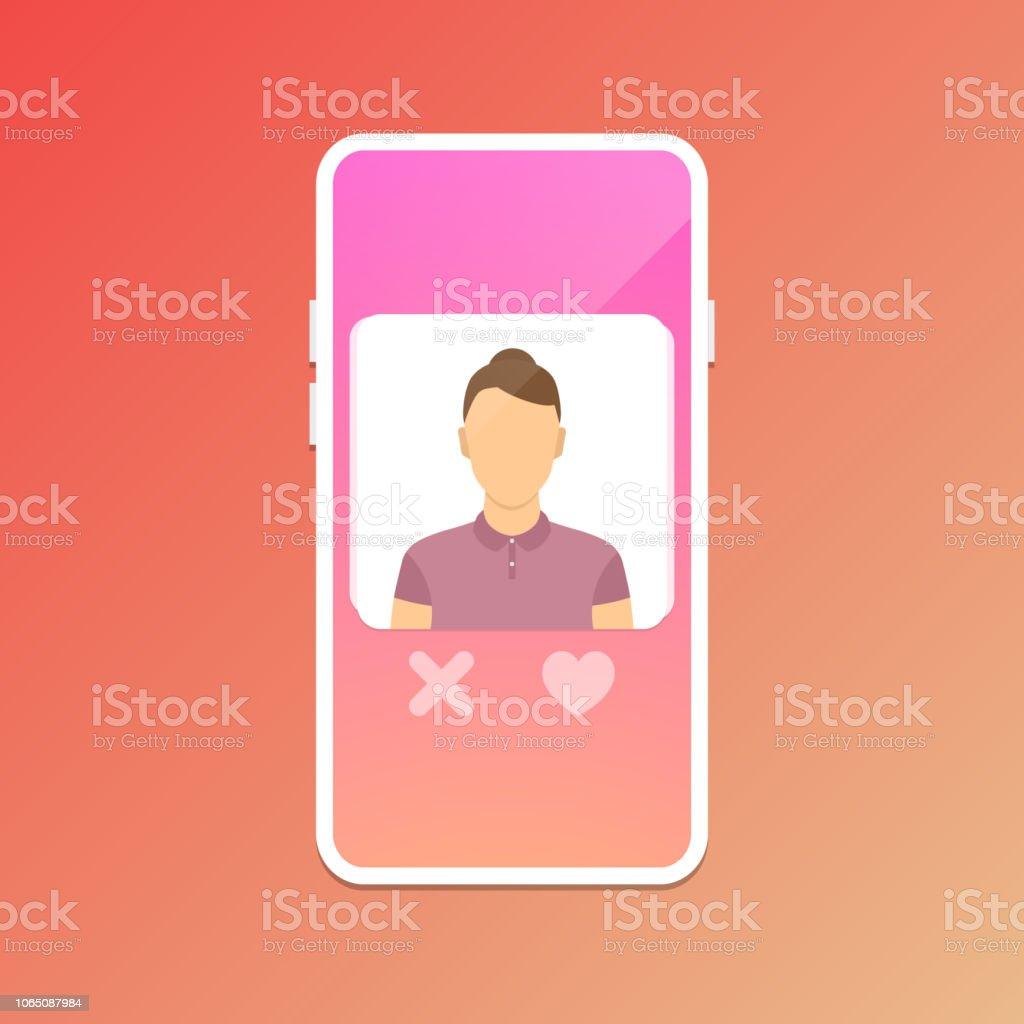 Dating application concept vector art illustration