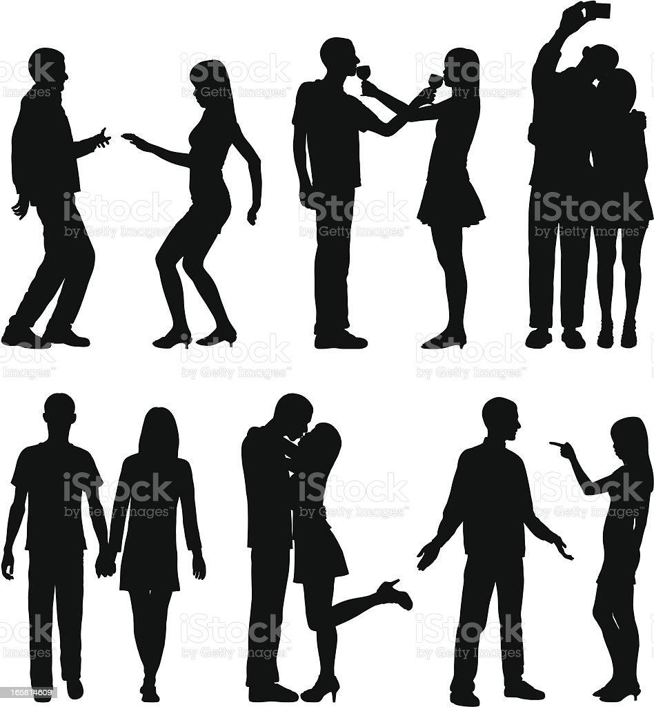 Dating vector art illustration