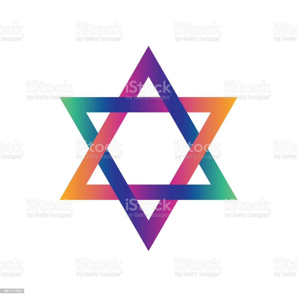 royalty free jewish sign colorful star of magen david clip art rh istockphoto com
