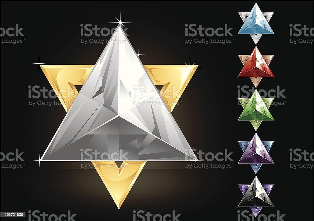 David Star royalty-free stock vector art