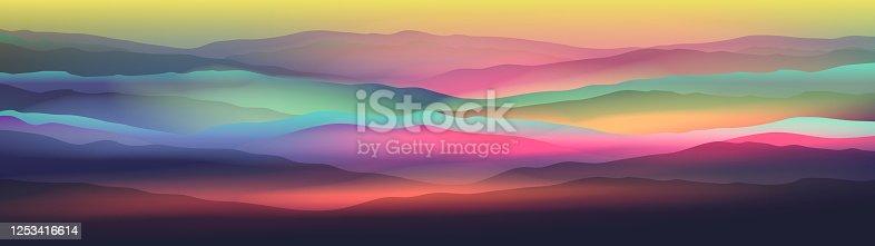 istock Dawn above mountains panorama 1253416614